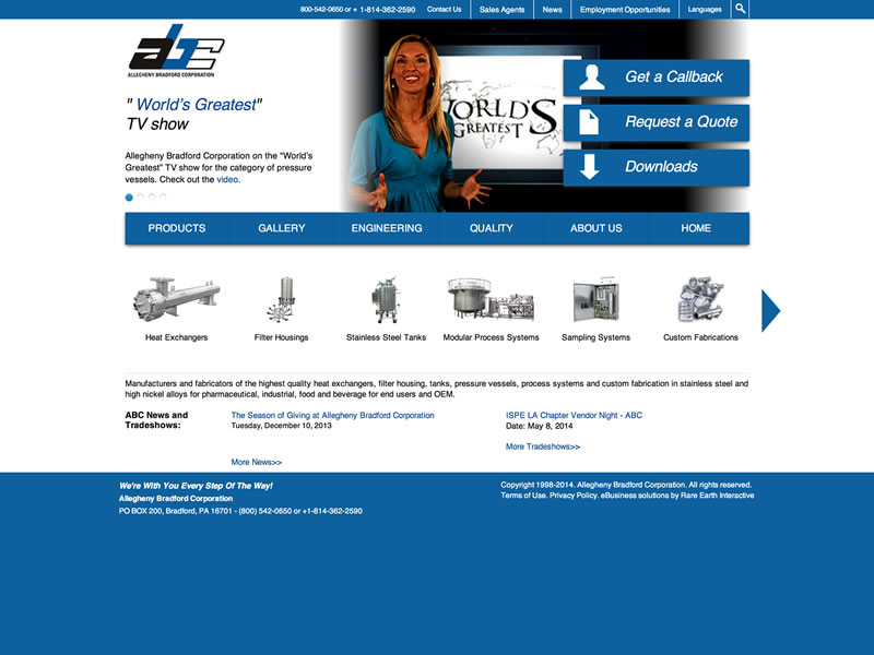 Visit Allegheny Bradford Corporation's website
