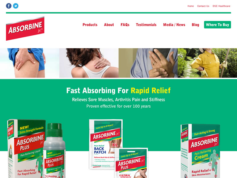 Visit Absorbine Jr.'s website