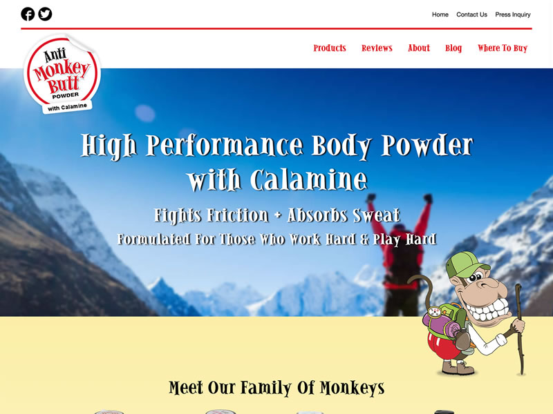 Visit Anti-Monkey Butt Powder®'s website