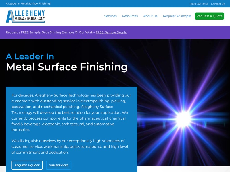 Visit Allegheny Surface Technology's website