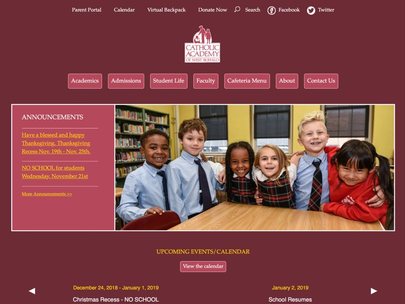 Visit Catholic Academy of West Buffalo's website