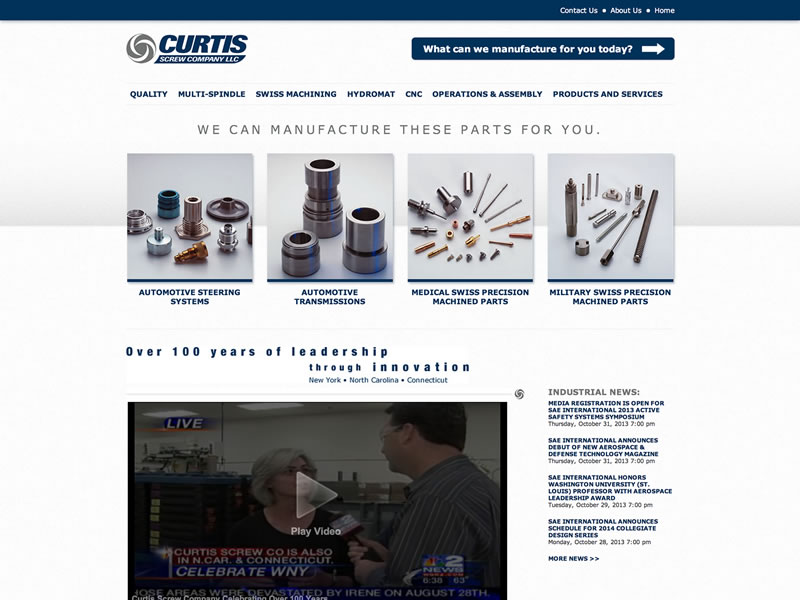 Visit Curtis Screw Company, LLC's website