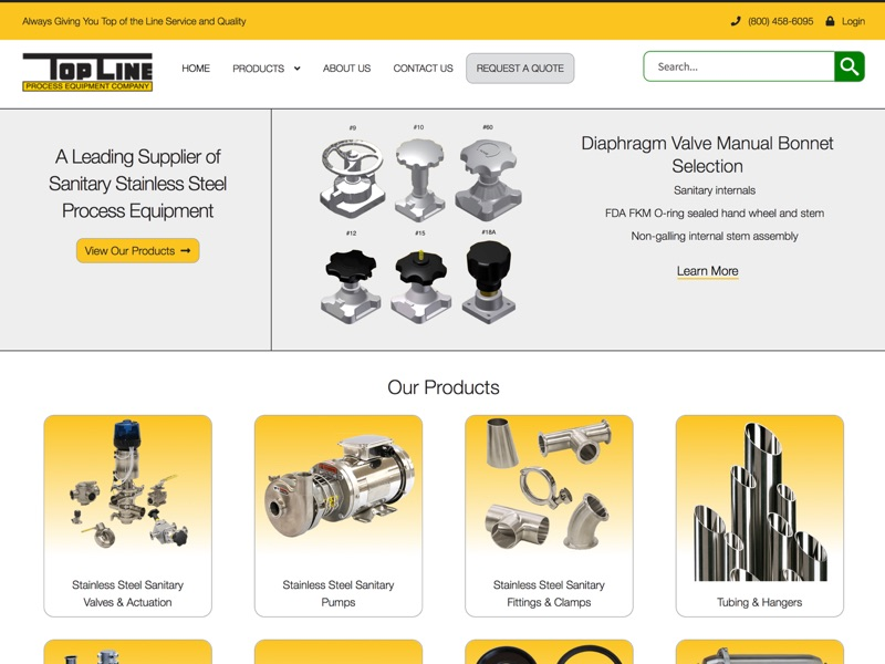Visit Top Line Process Equipment Company's website